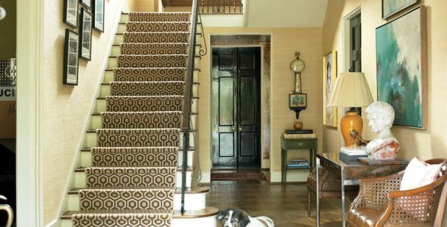 Fun House | Atlanta Homes U0026 Lifestyles   David Hicks Stair Runner