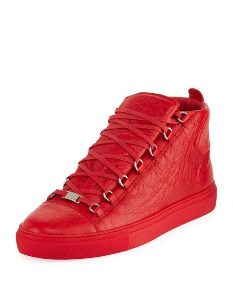 043e377ef6b9c BALENCIAGA Men S Arena Leather High-Top Sneaker