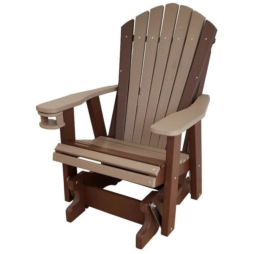 Qw Amish Adirondack Glider Quality Woods Furniture In 2020 Amish Outdoor Furniture Furniture Gliders Wood Furniture