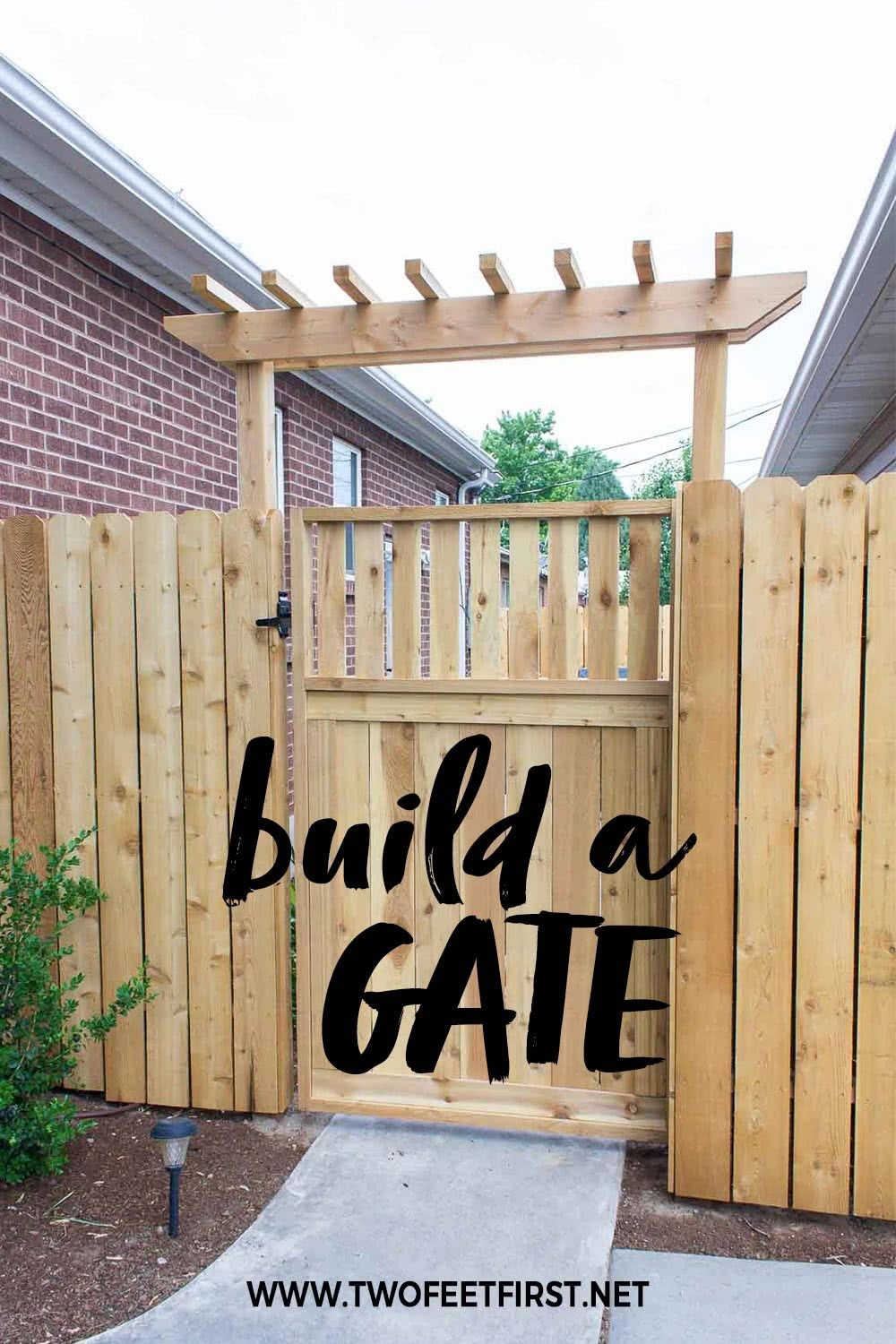 How To Build A Wooden Gate Building A Wooden Gate Building A Gate Backyard Gates