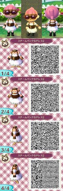 Steampunk Steam Punk Dress Qr Code Animal Crossing Animal