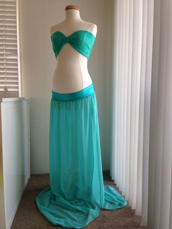 5c9571eab7f Tiffany blue Chiffon Jersey Lace Maternity Gown by BoutiqueByAgnes ...