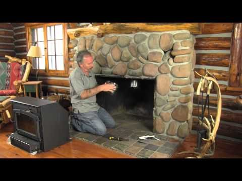 How To Install A New Chimney Liner Yourself Youtube Fireplace Inserts Stove Installation Home Fireplace