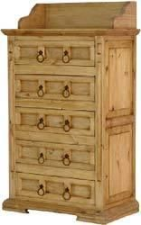 La Fuente Imports Tall Mansion Mexican Rustic Pine Dresser