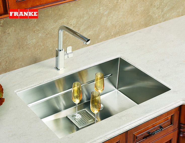 The Definition Of A Classy Kitchen Champagne And Franke Stainless