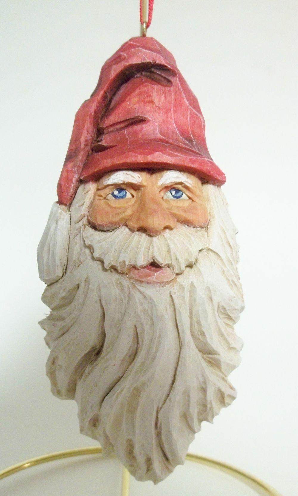 Santa ornament wood carvings pinterest