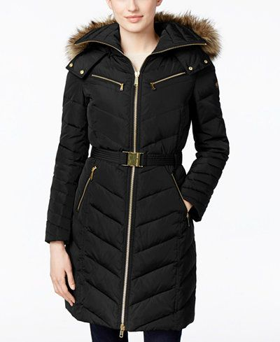 Michael kors green down coat