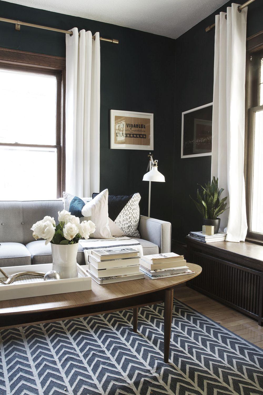 Getting Bluer Going Darker Decor Pinterest Living rooms Room