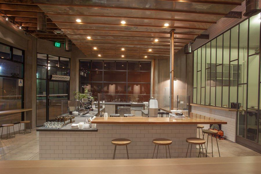 Best modern coffee shop design for Top architecture firms los angeles