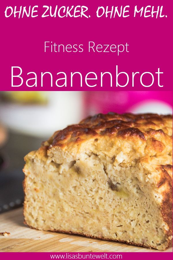 Banana bread fitness recipe without sugar and flour -  Juicy banana bread without sugar and flour. P...