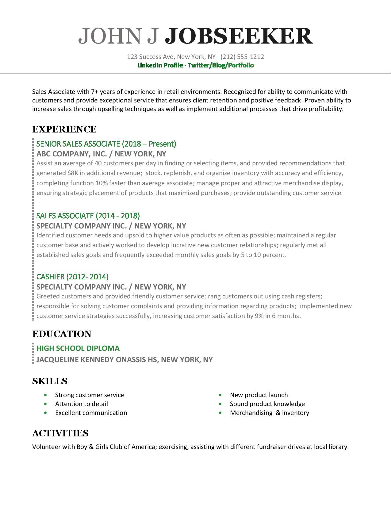 12+ Great resume objectives for retail Examples