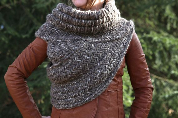Katniss Inspired Cowl Vest Scarf Shawl Made To Order Shawl