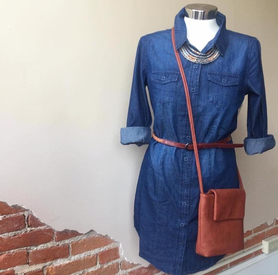 """""""Chambray Academy"""" Dress"""