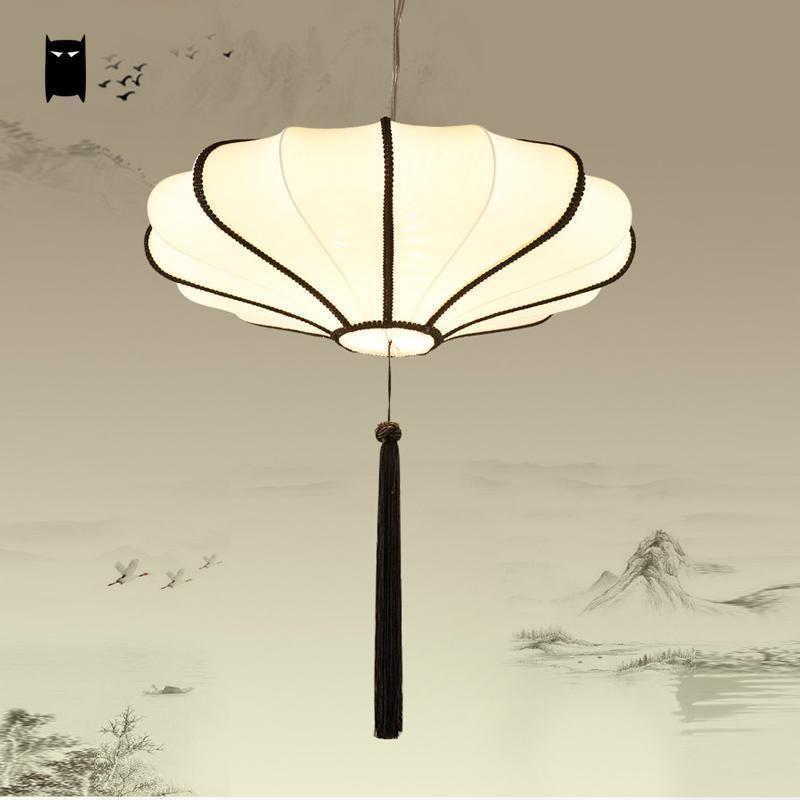 fabric lantern shade pendant