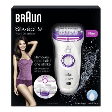 Braun Depiladora Silk-Epil 9 SkinSpa 9561 Wet   Dry  7bac4d3e3223