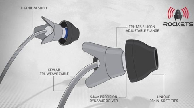 Aurisonics Rockets IEM - The Headphones Generation 2.0 http://coolpile.com/gadgets-magazine/aurisonics-rockets-iem-headphones-generation-2-0/ via coolpile.com by @Aurisonics  #Cool #Headphones #Jogging Gear #Kevlar #Silicone #Sports #Titanium #Waterproof #Workout #coolpile