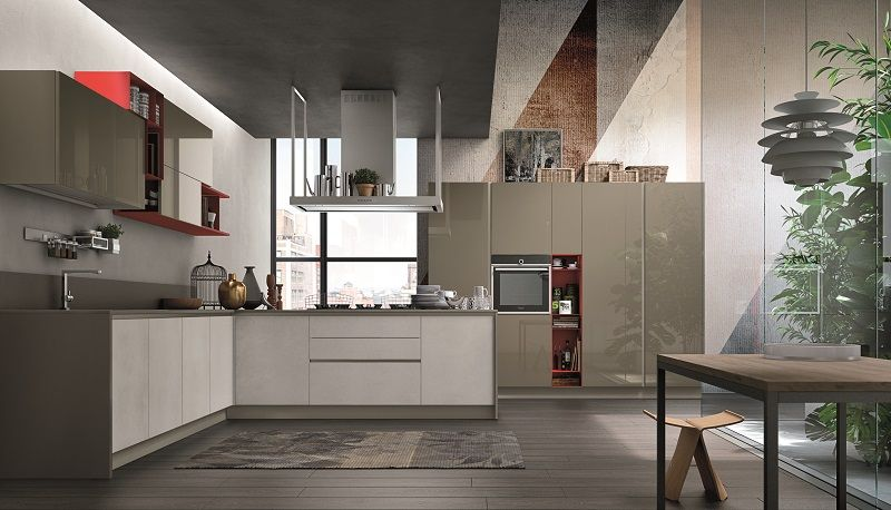 Aliant by Stosa is a modern kitchen with two principal materials