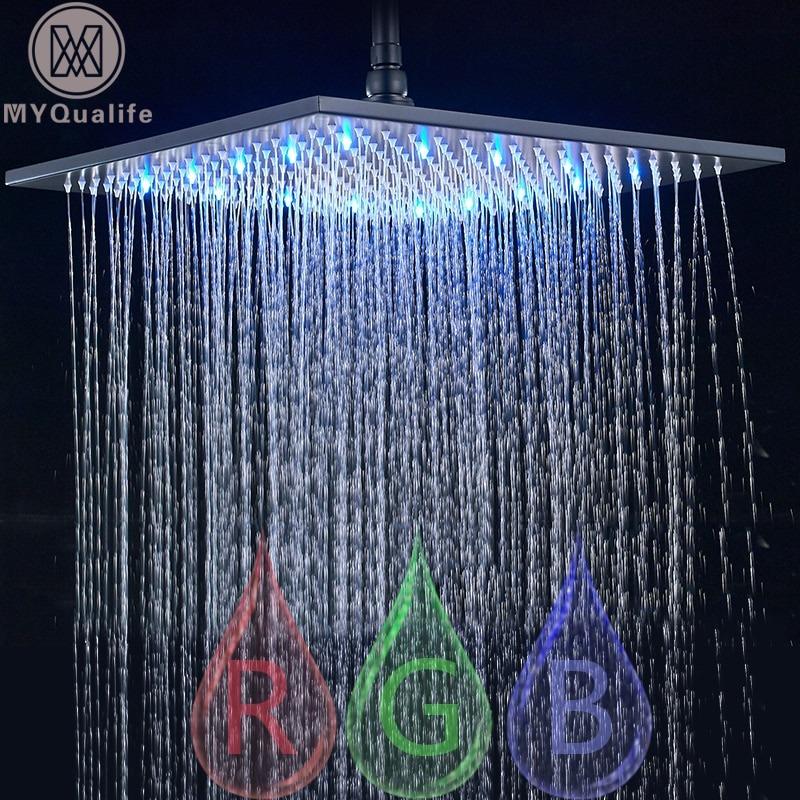 Rainfall Shower Head Led Light Besthouse Headsquare Ledlight Rainfallshower Showerfaucet Showerhead Showerhead Newyork Losangeles In 2020 Rainfall Shower Head