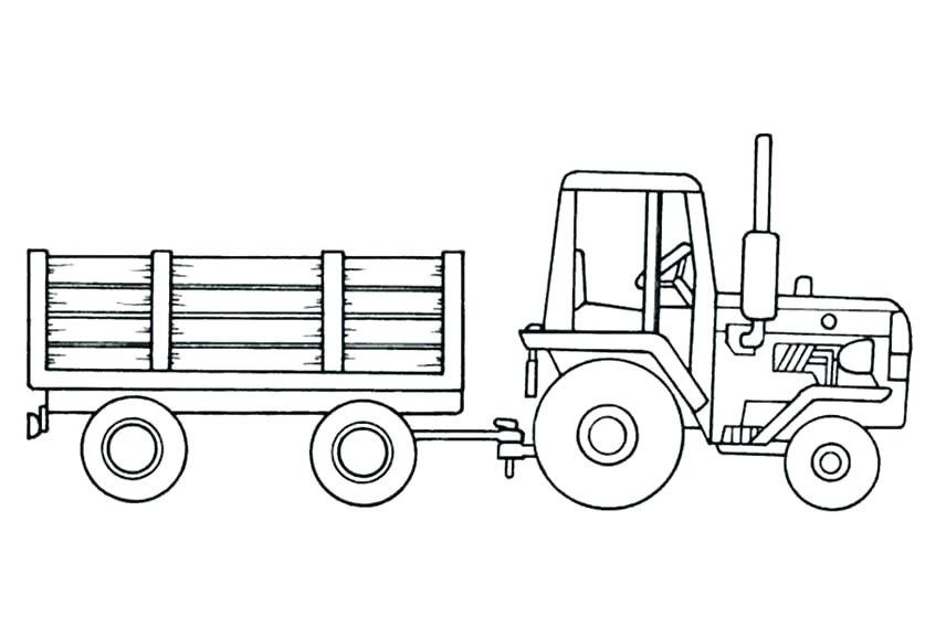 Coloriage Tracteur Avec Remorque Drawing For Kids Coloring F
