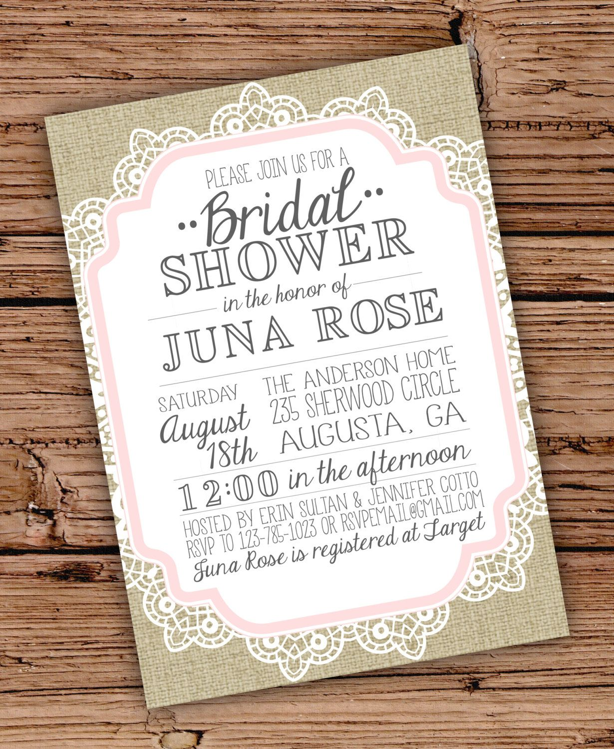 This Item Is Unavailable Vintage Bridal Shower Invitations Lace