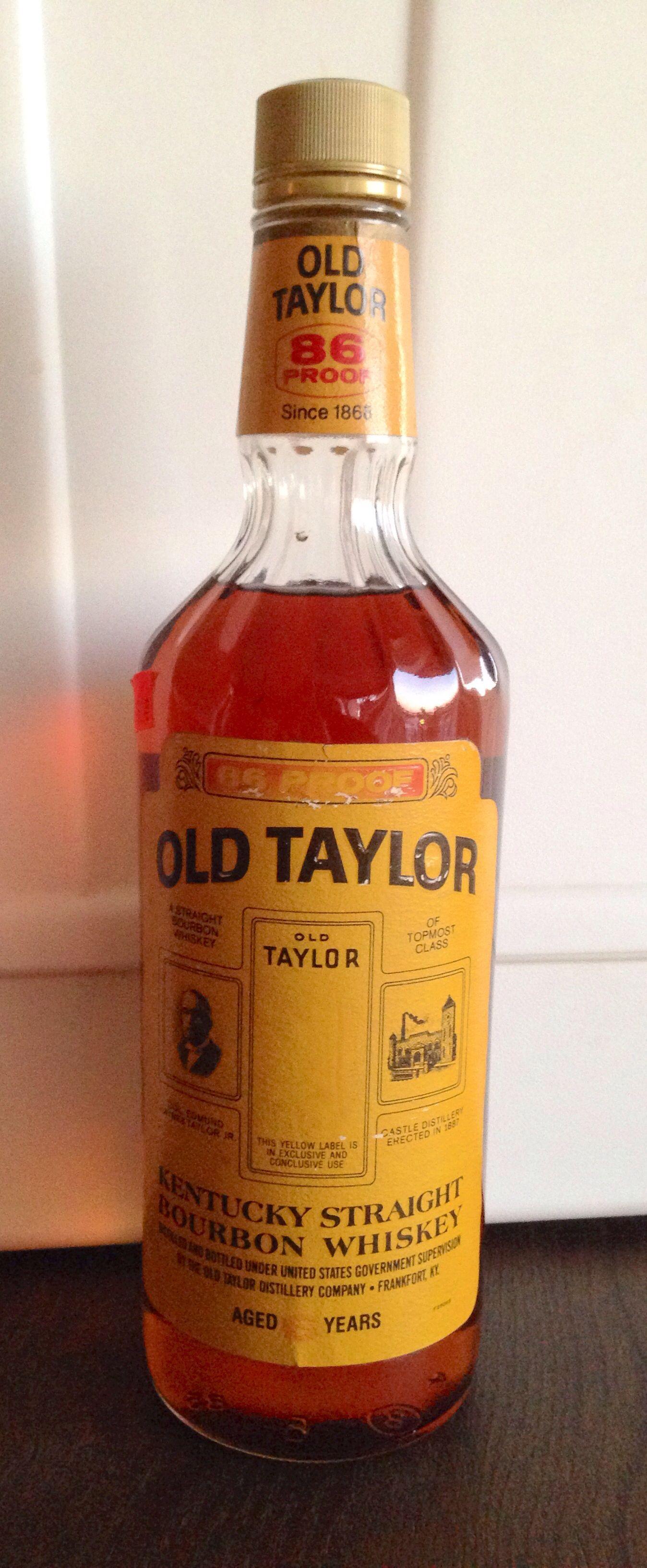 Old Taylor 6 year old bourbon (1985) National Distillers era