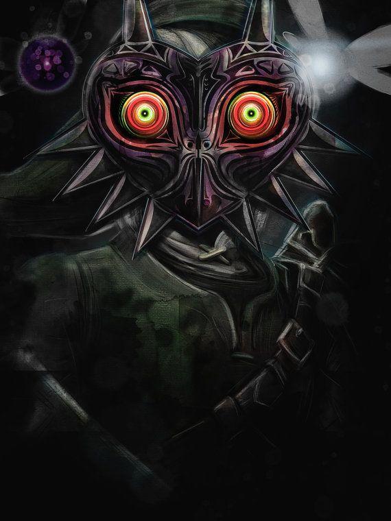 Legend of Zelda Majora\'s Mask Link Painting - signed museum quality ...