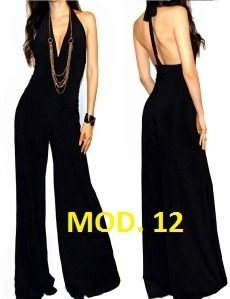 668b57357f Palazzo Dress Jumpsuit Jumper Strapless Una Manga De Moda -   699.00 en  MercadoLibre