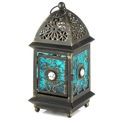 World Menagerie Amethyst Glass And Metal Lantern Glass Candle Lantern Glass Lantern Lantern Table Centerpieces