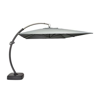 Shop Allen + Roth X Grey Rectangular Offset Umbrella With Crank At Loweu0027s  Canada. Find Our Selection Of Patio Umbrellas At The Lowest Price  Guaranteed With ...