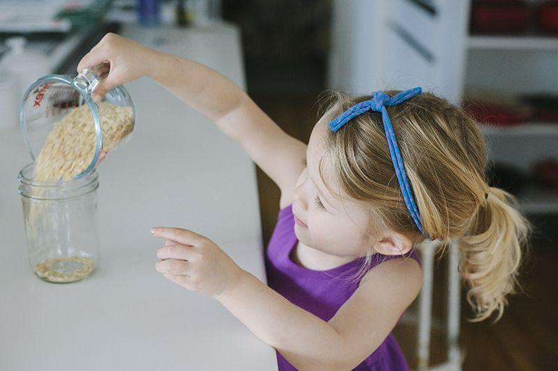 Kết quả hình ảnh cho pouring rice montessori