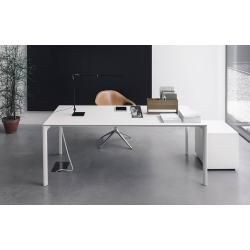 Kristalia Maki Alucompact® table 90 x 139cm white lacquered aluminum top and legs (assorted colors