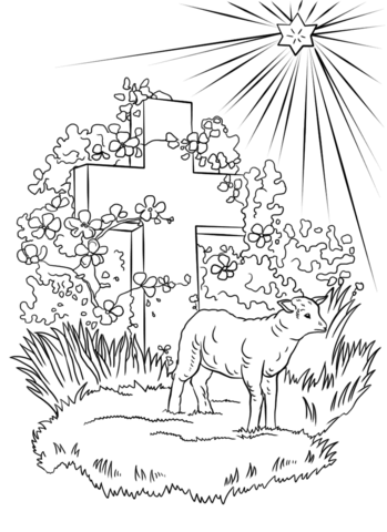 Lamb Of God Coloring Page From Easter Category Select From 25565 Printable Crafts Of Cartoons Natur Easter Coloring Pages Coloring Pages Bible Coloring Pages