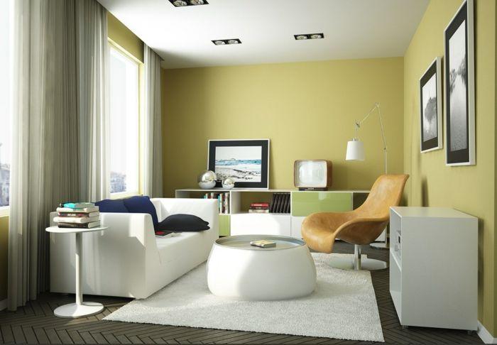 Wohnzimmer Einrichten Ideen Weißer Teppich Weiße Wohnzimmermöbel