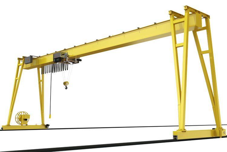 Europe Style 4 Wheel Single Girder Gantry Crane With Hoist Gantry Crane Cranes For Sale Hoist