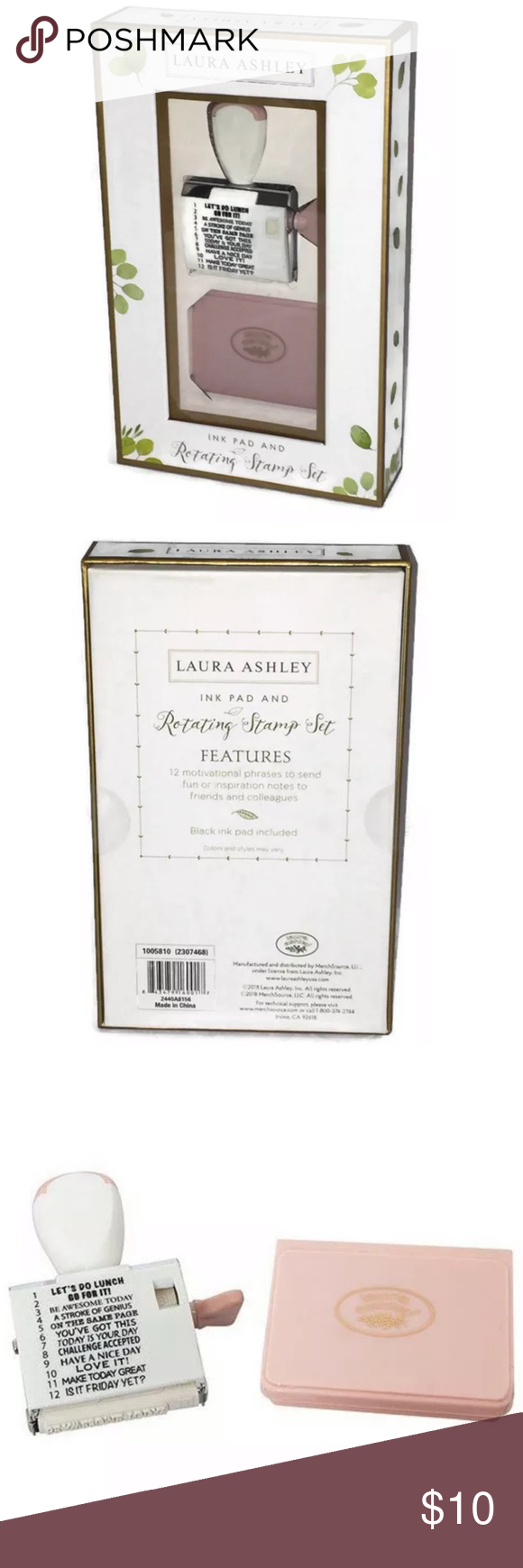 Laura Ashley Rotating Stamp Set With Ink Pad Ink Pad Stamp Set Laura Ashley