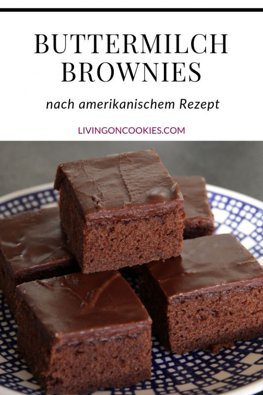 Buttermilch Brownies - Living on Cookies