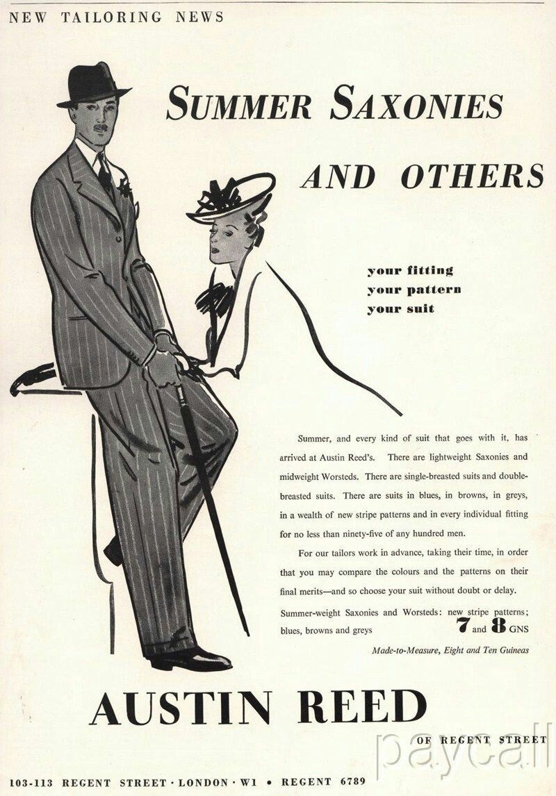Austin Reed 1939 Vintage Mens Fashion Austin Reed Vintage Ads