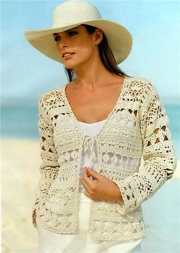 Pattern Only Crochet Women Summer Jacket Cardigan Projects To