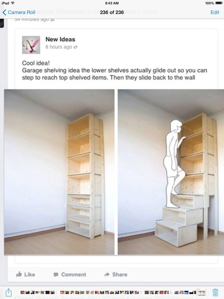 Storage For Garage Stair Shelves Shelves Step Shelves