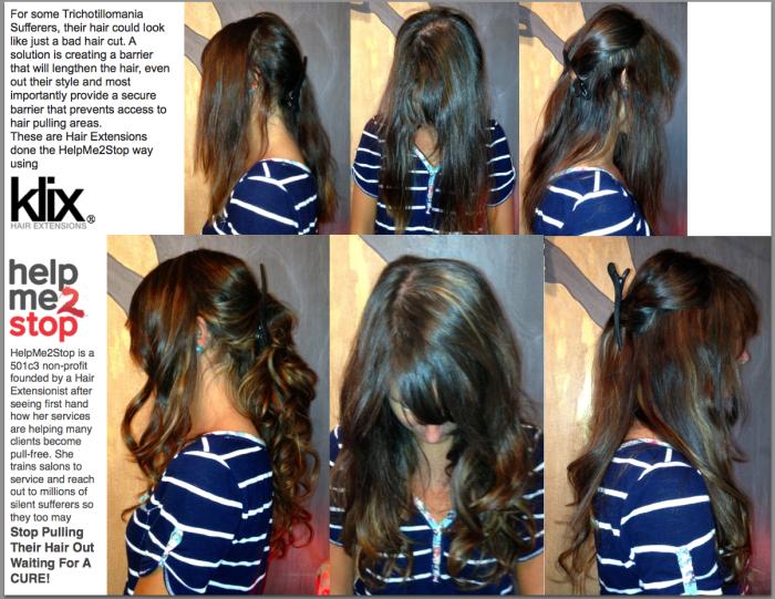 Helpme2stop Trichotillomania Using Klix Hair Extensions Stop Pulling Hair Out Extensions Hair Hel In 2020 Klix Hair Extensions Pulling Hair Out Hair Extensions