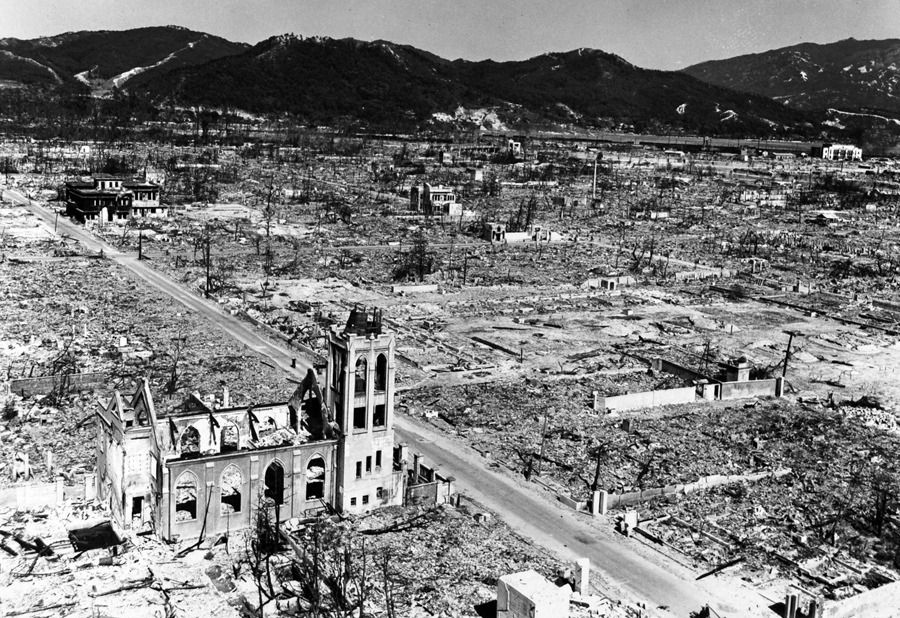 Scenes From A Devastated Hiroshima Japan After The Atom Bomb