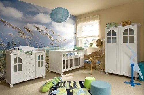 Babyzimmer Kinderzimmer AMSTERDAM Weiß Babymöbel Set 4tlg