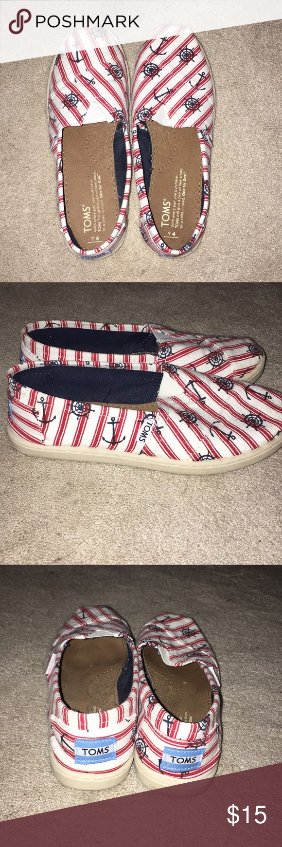 7f40628c268 Toms Anchor Shoe Never worn!! Cute and comfortable Toms Shoes Flats    Loafers