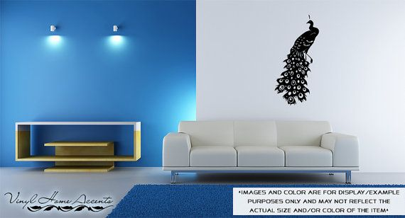 Peacock  Vinyl Wall Decal Sticker Decor by VinylHomeAccents, $18.00