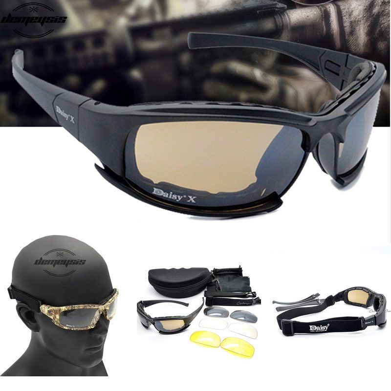 5068bb8123 check price army goggles sunglasses men military daisy x7 sun glasses male  4 lens kit for mens war #goggles #sunglasses