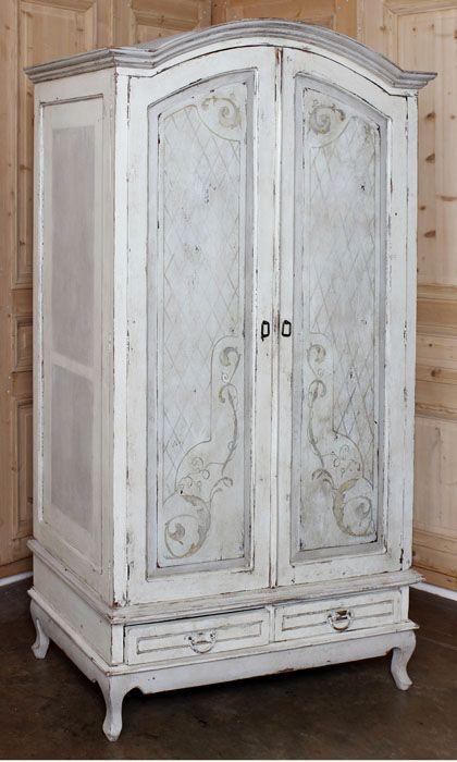 armoire furniture antique. Rustic Dutch Painted Armoire #antiques #antique #furniture #armoire Www.inessa. Furniture Antique