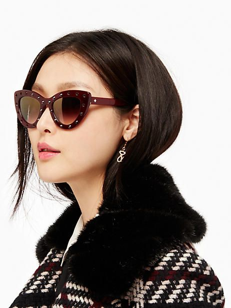 884f68fadea3 Kate Spade Luann Sunglasses, Burgundy | Products in 2019 | Kate ...