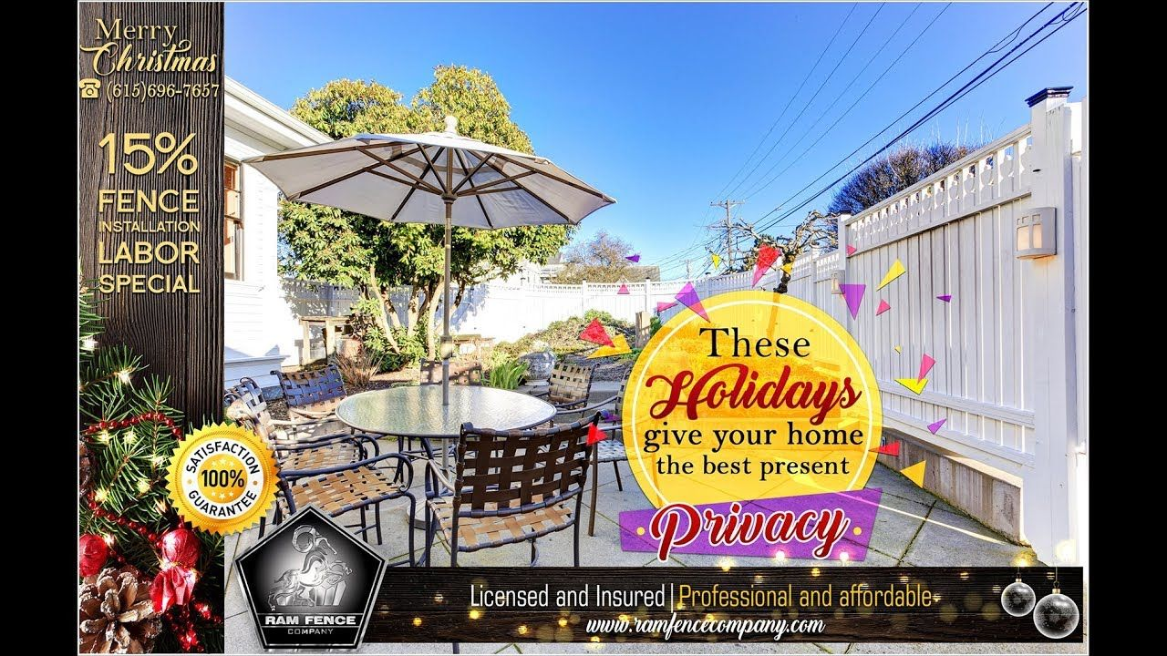 These holidays give your home the best present privacy - Ram Fence Company