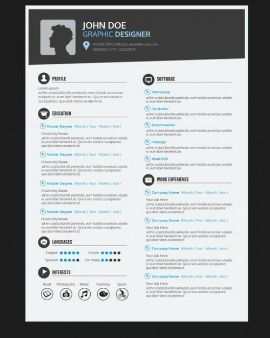 Graphic Designer Resume Template  Projects To Try