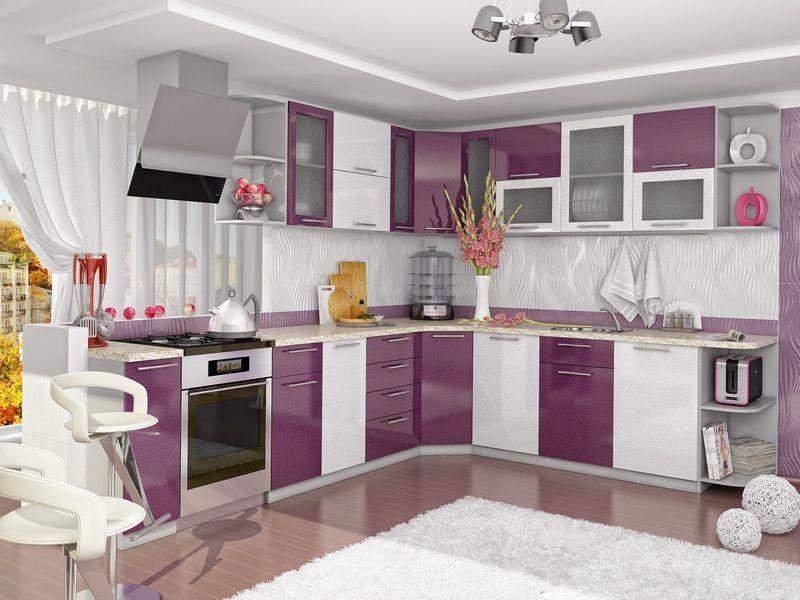 Latest Modular Purple Kitchen Cabinets Design Ideas For Modern